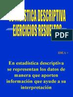 Estadística Descriptiva Ejercicios Resueltos