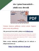 Rozmówki - wzory listów i pism francuskich - poradnik oraz słownik