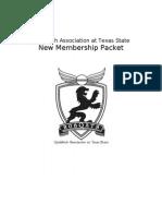 New Membership Packet