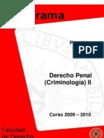 2009 2010 PROGRAMA  D%C2%BA PENAL II