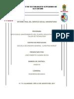 Informe Final Del Servicio Social Cazarin