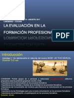 La Evaluacion en La Formacion Profesional