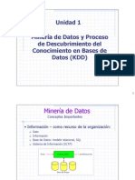 1 Introduccion a La Mineria de Datos y KDD