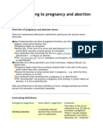 Terms Relating to Pregnancy and Abortion