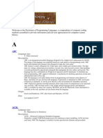 The Dictionary of Programming Languages