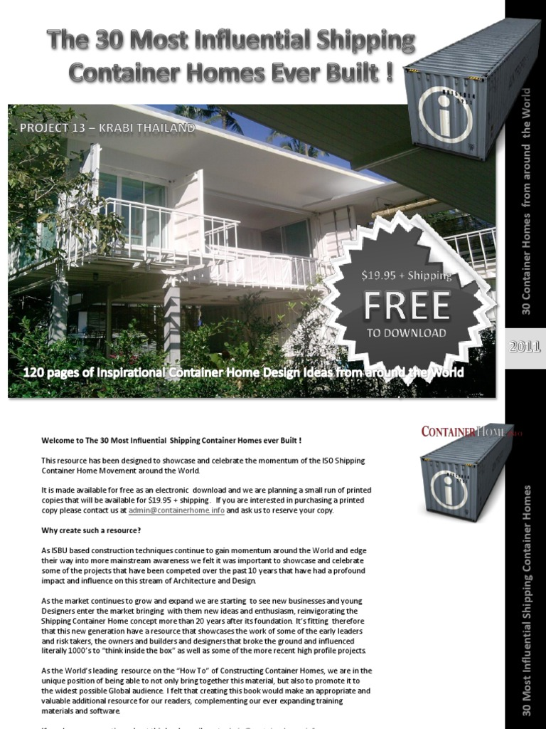 Preview 30 Shipping Container Homes 120 Page Ebook Window Architect