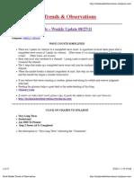 Stock Market Trends & Observations 08/27/11