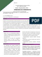 Relatório Propriedades dos carboidratos