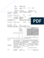 Algebra Tutorial -Straight Line