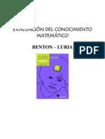 BENTON y LURIA (Evaluacion Del Conosimiento Matematico