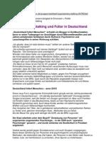 Organisiertes Stalking Und Folter in Deutschland