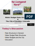 Water Budget Rates - Boulder
