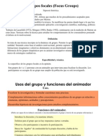 Grupos Focales (Focus Groups)