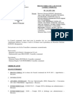 Conseil Communal de Pont-à-Celles du 20 juin 2011