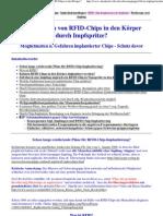 Impfungen zwecks geheimer Implantierung von RFID-Chips in den Körper