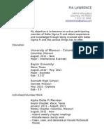 Delta Sigma Pi Resume