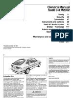 Saab 9-3 Owners Manual 2002