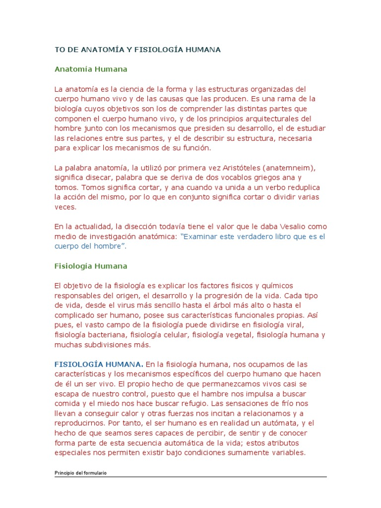 TO DE ANATOMÍA Y FISIOLOGÍA HUMANA