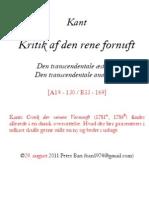 Kant - Kritik af den rene fornuft [A19-130/B33-169]