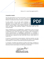 Carta de Inicio de Ciclo Escolar 2011