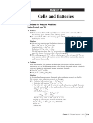 Chapter 11   Redox   Battery (Electricity)