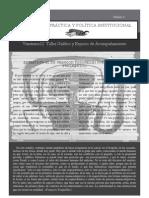 Fanzine N° Cero de Practica y Politica Institucional (Frente)