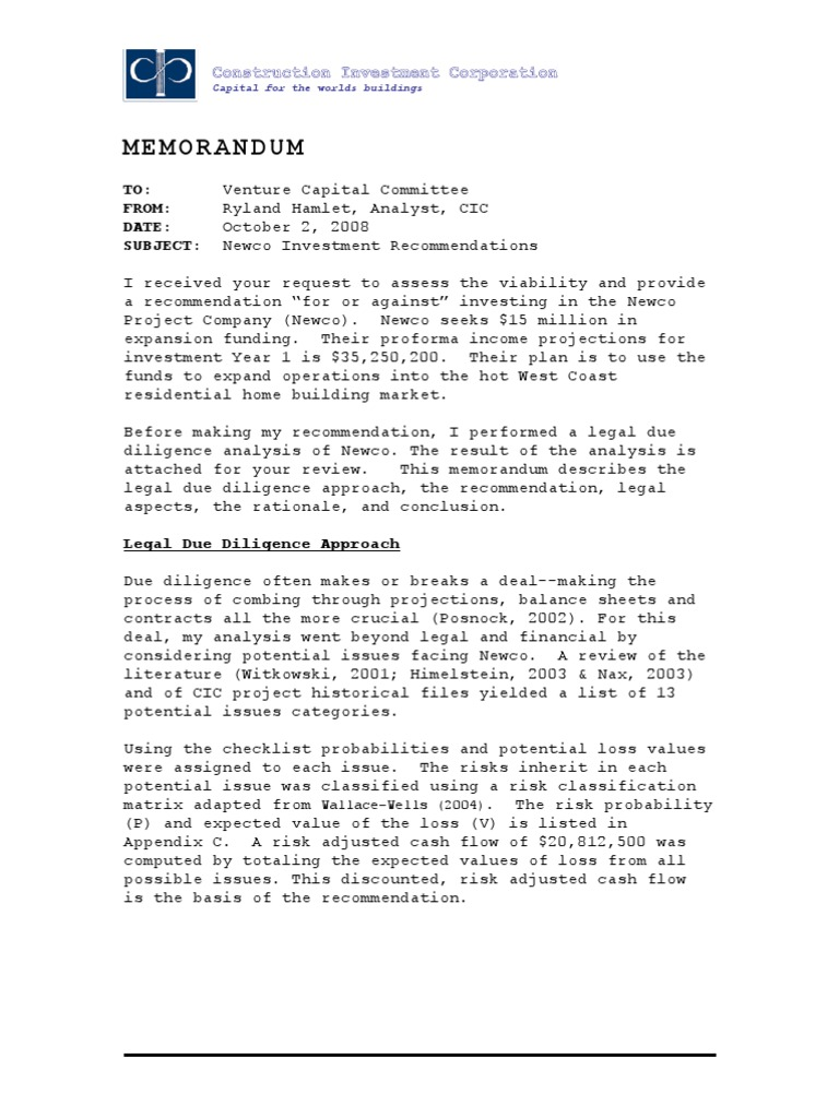 memo investment recommendation for centagenetix essay Memorandum of recommendation for sergeant audie murphy club (office symbol) (date) memorandum for command sergeant major, us army armor center and fort knox.