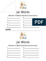 Find the Words in the Jar Worksheet