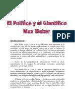 Resumen El Politico y Cientifico de Max Weber