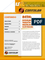 Regulacion d Tension en Instalaciones Electric As Centelsa