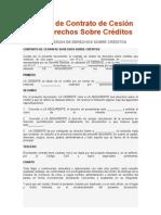 Modelo de Contrato de Cesión de Derechos Sobre Créditos