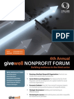 6th Annual Givewell NonProfit Forum - Building resilience in the third sector