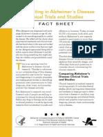Fact Sheet Alzihemers Flyer