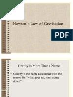 Law of Gravitation