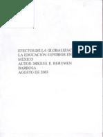 Efectos de La Globalizacion en La Educacion Superior en Mexico (1)