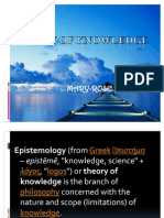 Theory of Knowledge Ppt