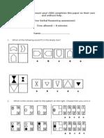 11+ Non Verbal Reasoning Assessment