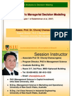 Managerial Analysis & Decision Making Slides - Shinawatra MBA - Semester 2-2010 CC
