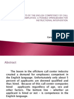 Determinants of English Proficiency of Call Centers