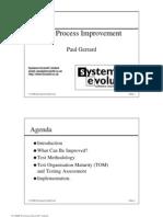 Test Process Improvement - Paul Gerrard