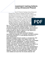 Titanium Investment Casting Defects Detection Using Ultrasound Phased Array