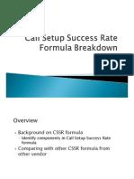 Call Setup Success Rate Formula Breakdown