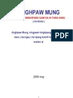 Kachin State Constitution (Draft) Jinghpaw Version