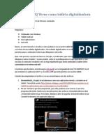 Usar BQ Verne como tableta digitalizadora
