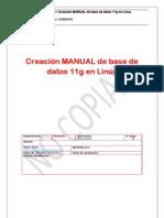 Oracle - Creación Manual de una Base de datos 11g en Linux