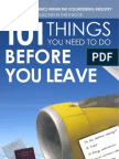eBook 101 Things You Need to Do Before You Leave
