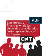 Legitimidad Financiacion Sindicatos Mas Representativos
