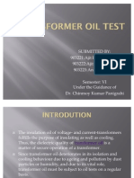 Transformer Oil Test Report | Carbon Monoxide | Methane