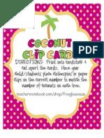 Coconut Clip Cards
