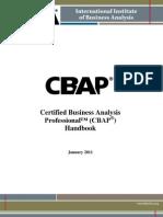 CBAP Handbook Jan 2011